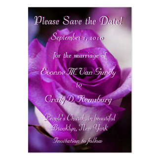 Customized Save The Date I Large Business Card