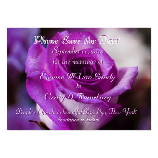Customized Save The Date II Large Business Card
