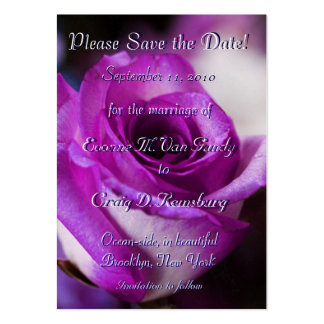 Customized Save The Date III Large Business Card