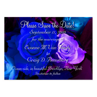 Customized Save The Date IV Large Business Card