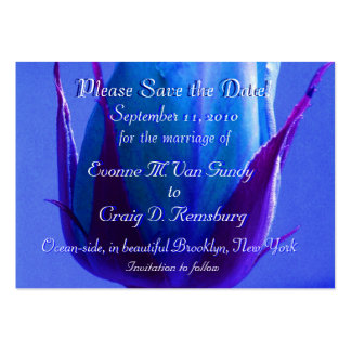 Customized Save The Date Large Business Card
