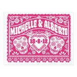 Customized Save the Date postcard - Pink