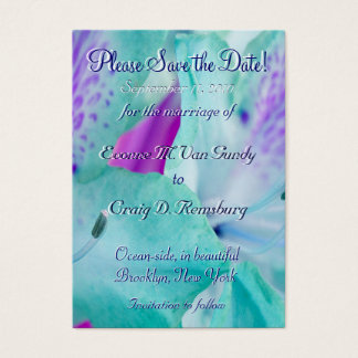 Customized Save The Date V Business Card