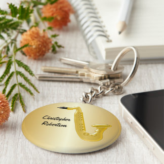 Customized Saxophone Design Keychain