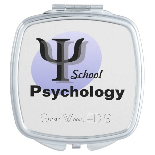 Customized School Psychology Compact Mirror
