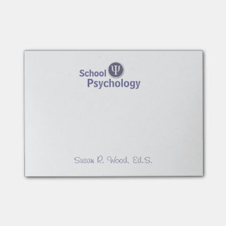 Customized School Psychology Post It Notes Post-it® Notes