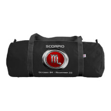 Customized Scorpio Horoscope Symbol Gym Bag