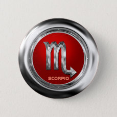 Customized Scorpio Zodiac Glyph Button