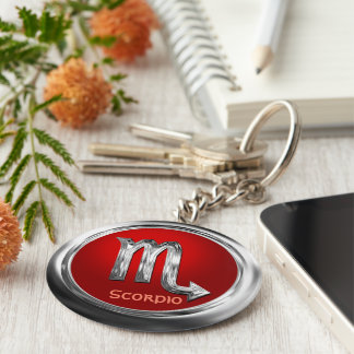 Customized Scorpio Zodiac Symbol Keychain
