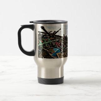 Customized Scrap Metal Aluminum Recycle Business Travel Mug