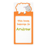 Customized*Sheep Bookmarks Book Rack Card Template