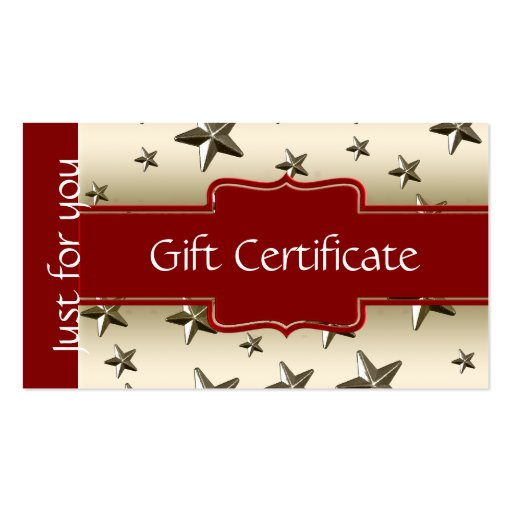 gift certificate business card templates standard size bizcardstudio. Black Bedroom Furniture Sets. Home Design Ideas