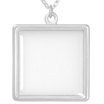 Beach Themed Customized Silver Plated Necklace