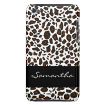 Customized Snow Leopard Animal Print Barely There iPod Case