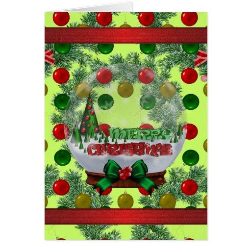 Customized Snowglobe Christmas Card