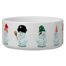 Customized Snowman Cartoon Bowl