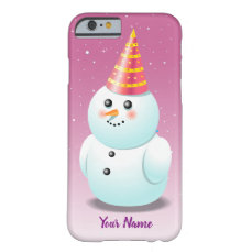 Customized Snowman Lady Cartoon Barely There iPhone 6 Case
