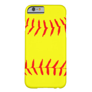 Customized Softball Barely There iPhone 6 Case