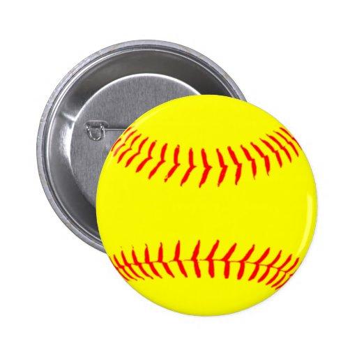 Customized Softball Pinback Buttons