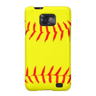Customized Softball Galaxy S2 Case
