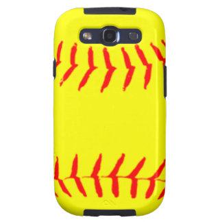 Customized Softball Galaxy S3 Covers