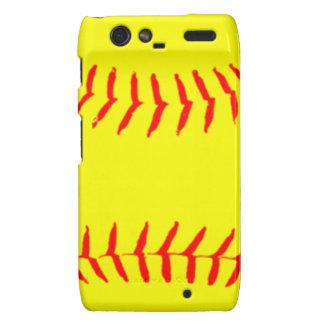 Customized Softball Droid RAZR Case