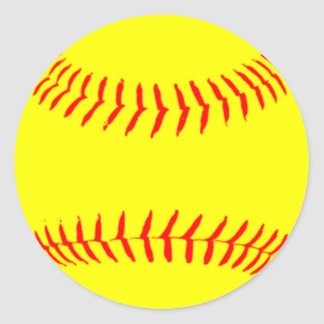 Customized Softball Classic Round Sticker