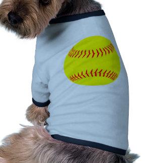 Customized Softball Pet Tee