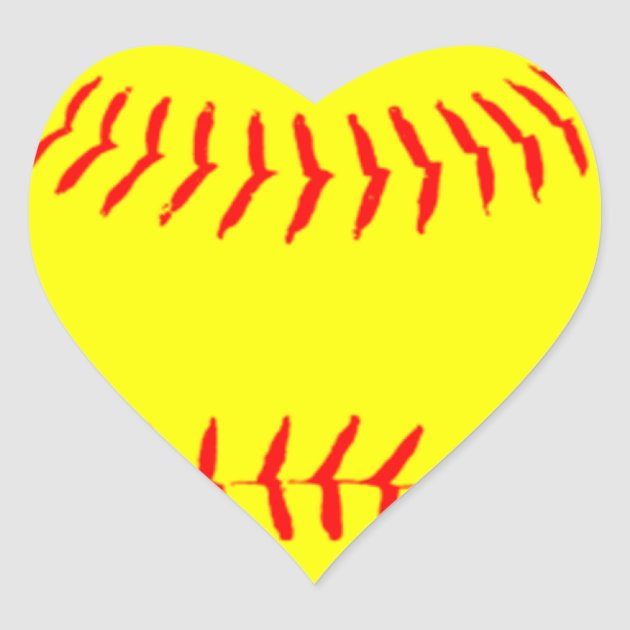 customized softball heart sticker zazzle com first birthday clip art boy free first birthday clip art images