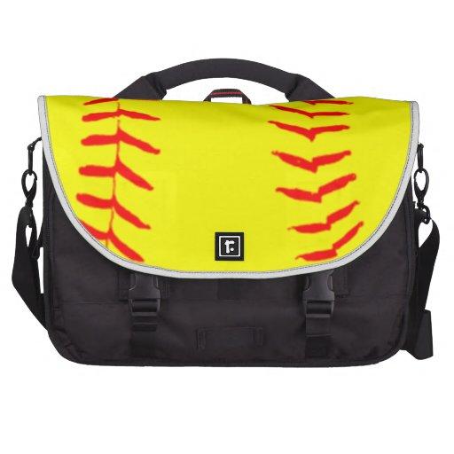 Customized Softball Laptop Computer Bag