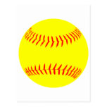 Customized Softball Post Card