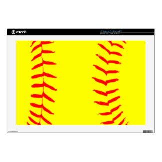 """Customized Softball Decal For 17"""" Laptop"""