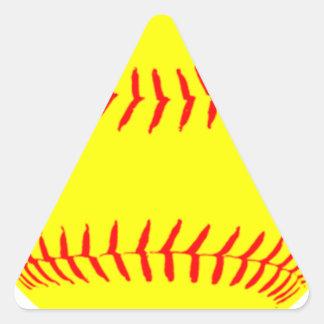 Customized Softball Triangle Sticker