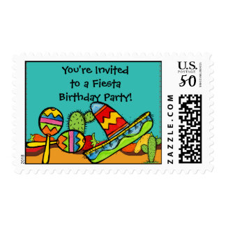 Customized Sombrero and Maracas Postage