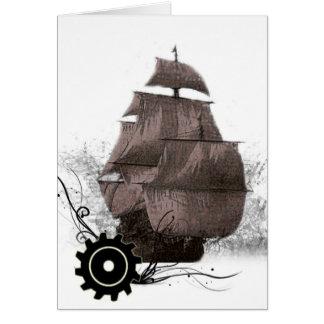 customized Steampunk Pirate Greeting Card
