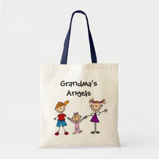 Customized Stick Figure Kids Family Tote Bag