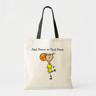 Customized  Stick Girl Basketball Bag