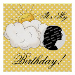 Customized Sunshine Birthday Poster