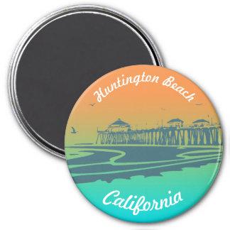Customized Surf City Vintage Illustration Magnet