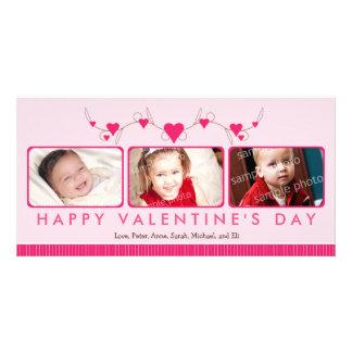 Customized Sweet Valentine's Day 3-Photo Card: 1 Card