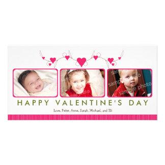 Customized Sweet Valentine's Day 3-Photo Card: 2 Card