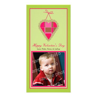 Customized Sweet Valentine's Day Photo Card: 2 Card