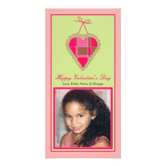 Customized Sweet Valentine's Day Photo Card: 3 Card
