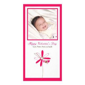 Customized Sweet Valentine's Day Photo Card: 4 Card