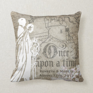 Customized Tan Floral Once Upon a Time Pillow