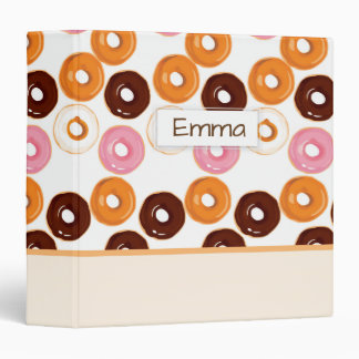 Customized Tasty Assortment of Donuts 3 Ring Binder