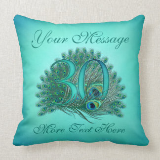 Customized text elegant 30th Birthday 30 Pillows