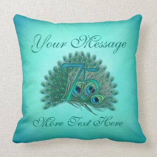 Customized text elegant 75th Birthday 75 Pillows