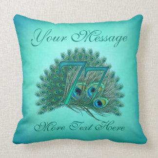 Customized text elegant 77th Birthday 77 Pillow