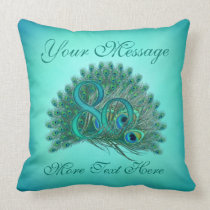 Customized text elegant 80th Birthday 80 Pillows